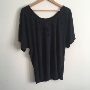 Free People | Black Cutout Top Small